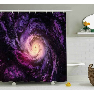 Cloudy Space Cosmos Shower Curtain Size: 69 W x 84 L