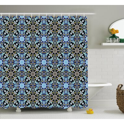 Gregg Eastern Arabic Pattern Shower Curtain Size: 69 W x 75 L
