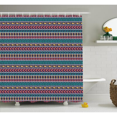 Beachmere Native American Style Shower Curtain Size: 69 W x 84 L
