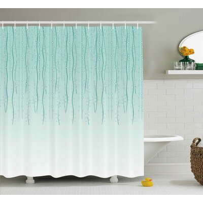 Holley Little Circles Triangle Print Shower Curtain Size: 69 W x 75 L