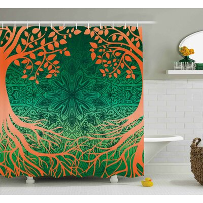 Arabelle Asian Mandala Symbols Shower Curtain Size: 69 W x 75 L