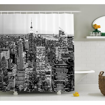 Bequette New York Manhattan Shower Curtain Size: 69 W x 70 L