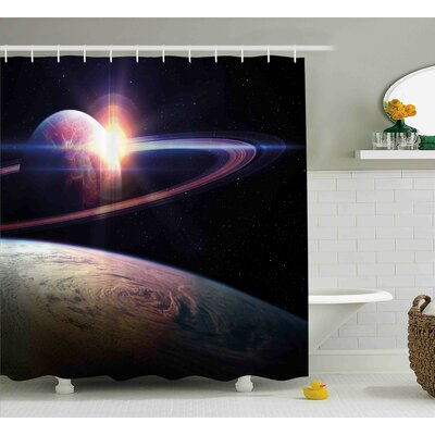 Belz Massive Planets Cosmo Shower Curtain Size: 69 W x 70 L