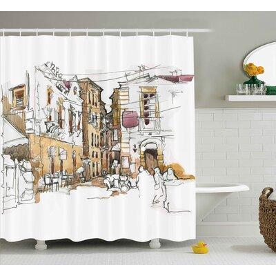 Blondelle Sketchy Street Art View Shower Curtain Size: 69 W x 84 L
