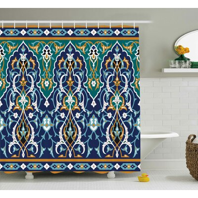 Arthurs Hippie Tribal Figures Shower Curtain Size: 69 W x 75 L