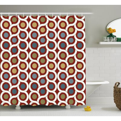Erline Circular Forms Rounds Shower Curtain Size: 69 W x 70 L