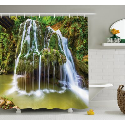 Scenery Botanic Plants in Lake Shower Curtain Size: 69 W x 84 L