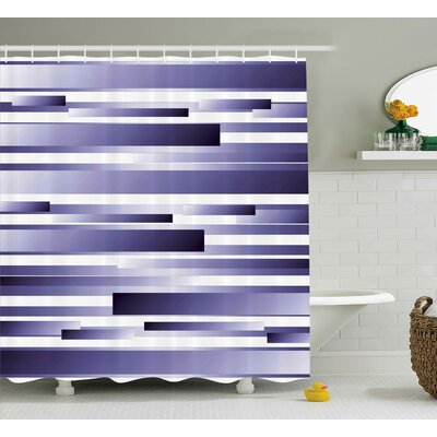 Enrique Purple Shades Pattern Shower Curtain Size: 69 W x 75 L