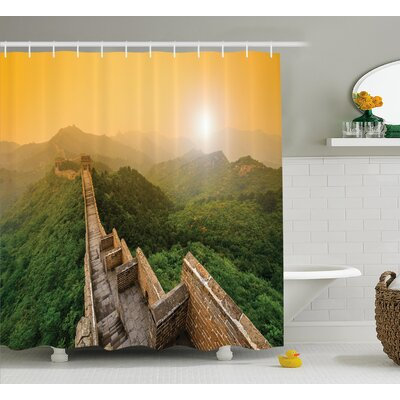 Landscape Jinshanling Fences Shower Curtain Size: 69 W x 70 L