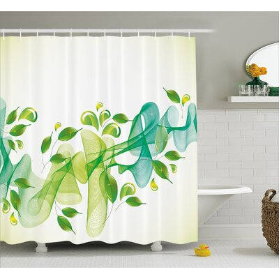 Begley Abstract Floral Decor Shower Curtain Size: 69 W x 70 L