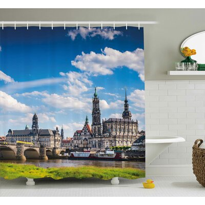 Brunelle European Ancient Town Shower Curtain Size: 69 W x 70 L