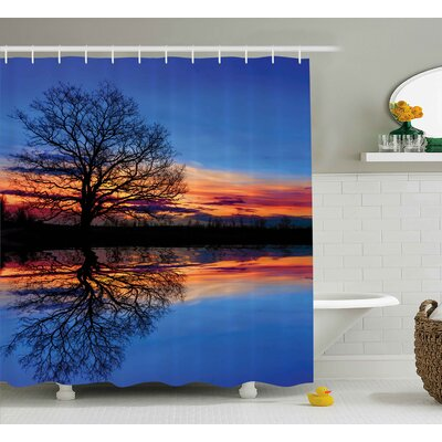 Panorama Magical Night Scenery Shower Curtain Size: 69 W x 84 L