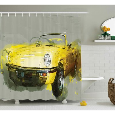 Baugher Vintage Retro Cuban Decor Shower Curtain Size: 69 W x 70 L