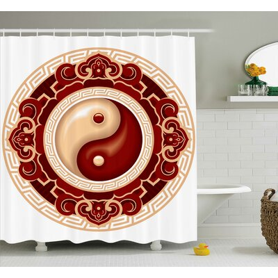 Beecher Yang Decor Asian Symbol Shower Curtain Size: 69 W x 70 L