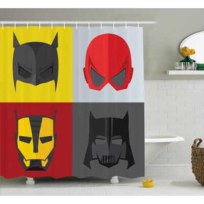 Marlon Heros for Villians Shower Curtain Size: 69 W x 84 L