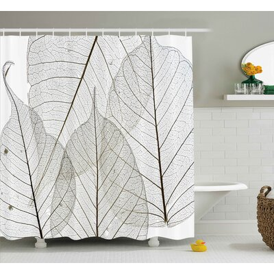 Borden Minimalist Borden Plant Shower Curtain Size: 69 W x 70 L