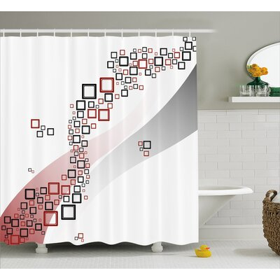Shonnard Square Wavy Shapes Shower Curtain Size: 69 W x 84 L
