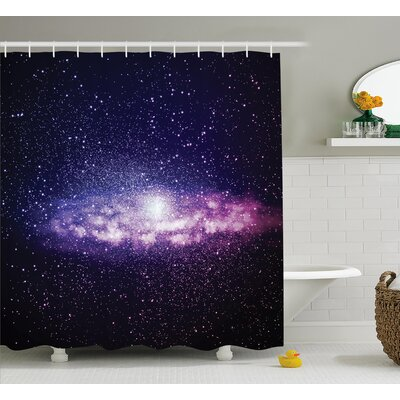 Nebula Cloud Milky Way Shower Curtain Size: 69 W x 84 L
