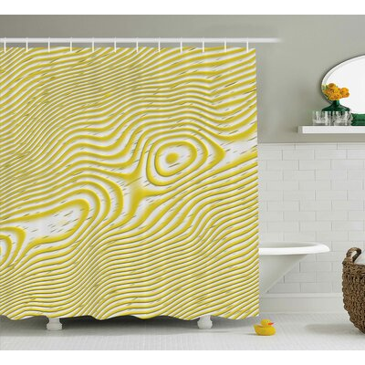 Chantrell Inner Round Stripes Shower Curtain Size: 69 W x 75 L