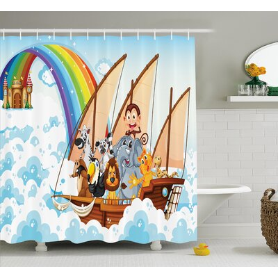 Julian Noahs Ark Shower Curtain Size: 69 W x 75 L