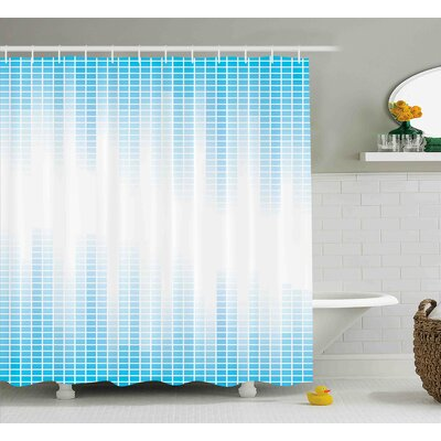 Frazier Geometric Squared Design Shower Curtain Size: 69 W x 75 L