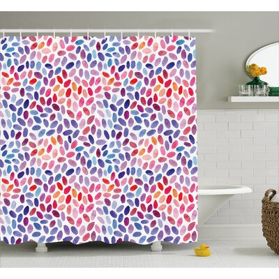 Crouse Trippy Funky Sketchy Shower Curtain Size: 69 W x 70 L