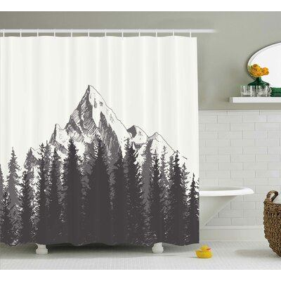 Ayers Native American Art Shower Curtain Size: 69 W x 75 L