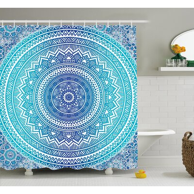 Cort Meditation Ritual Theme Shower Curtain Size: 69 W x 75 L