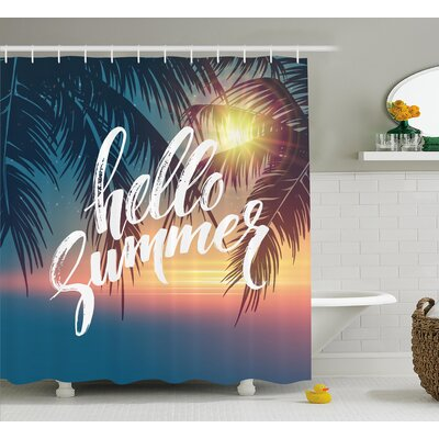 Palm Tree Tropic Paradise Beach Shower Curtain Size: 69 W x 75 L