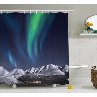Sky Northern Night Norway Solar Shower Curtain Size: 69 W x 70 L
