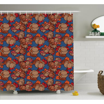 Burnes Funk Art Flower Pattern Shower Curtain Size: 69 W x 84 L