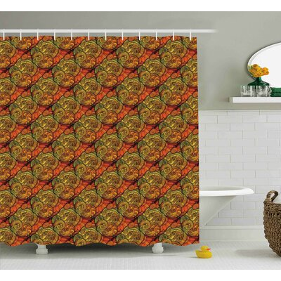 Bautista Abstract Indian Motif Shower Curtain Size: 69 W x 84 L