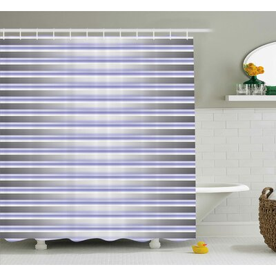 Enrique Digital Stripe Tube Shower Curtain Size: 69 W x 84 L