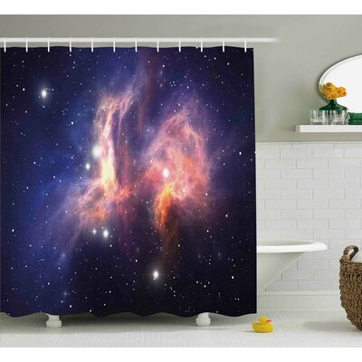 Stardust in Universe Shower Curtain Size: 69 W x 75 L