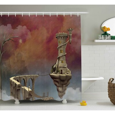 Bretta Fairy Medieval Decor Shower Curtain Size: 69 W x 84 L