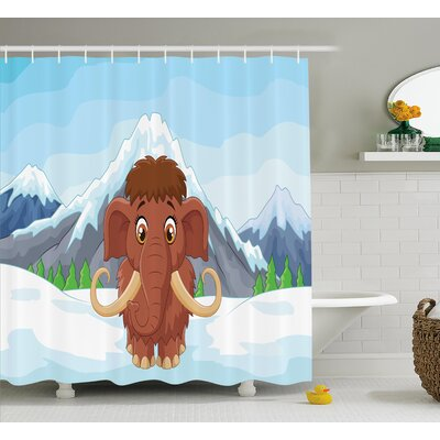 Malcolm Baby Ice Snowy Mountain Shower Curtain Size: 69 W x 75 L