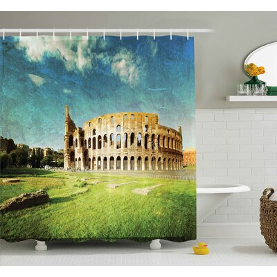 Vintage Italian Sunset Decor Shower Curtain Size: 69 W x 75 L