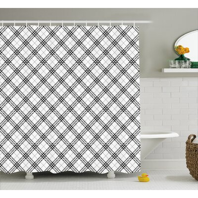 Burdette Minimalist Fashion Shower Curtain Size: 69 W x 84 L