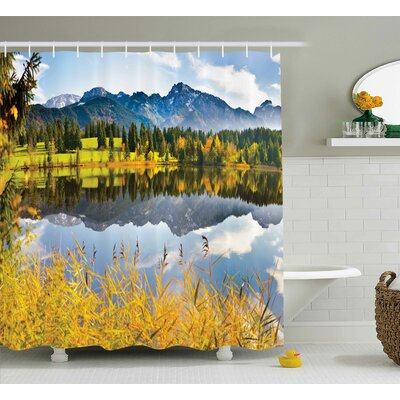 Bleeker Country Scene and Lake Shower Curtain Size: 69 W x 70 L