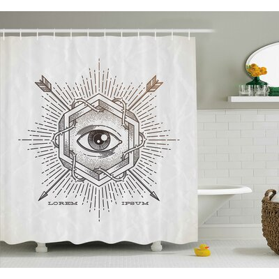 Dayne Mystic Third Eye Symbol Shower Curtain Size: 69 W x 84 L