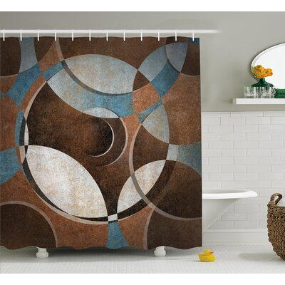 Graham Grunge Vintage Rounds Shower Curtain Size: 69 W x 70 L