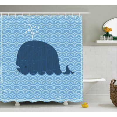Turner Sea Animal Wavy Patterns Shower Curtain Size: 69 W x 84 L