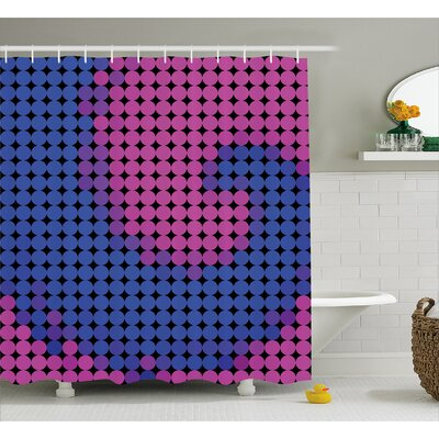 Caresse Modern Artful Decor Shower Curtain Size: 69 W x 75 L