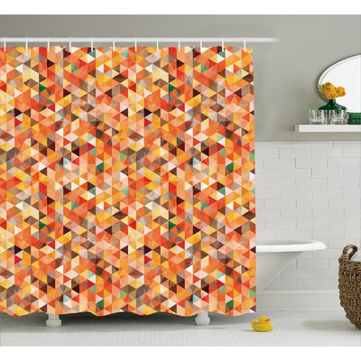 Carver Abstract Vibrant Motif Shower Curtain Size: 69 W x 75 L