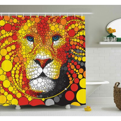 Beckner Abstract Lion Shower Curtain Size: 69 W x 84 L