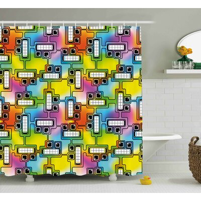Beehler Fun Characters Pattern Shower Curtain Size: 69 W x 75 L