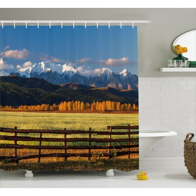 Banjo Nature Valley Forest Shower Curtain Size: 69 W x 84 L