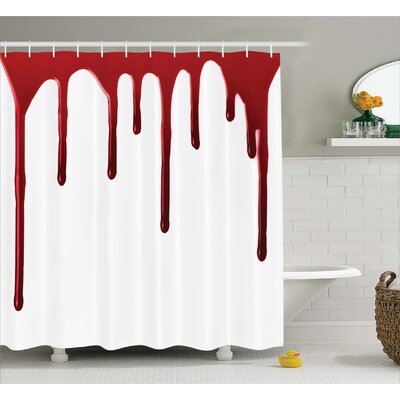 Bloody Halloween Zombie Crime Shower Curtain Size: 69 W x 84 L