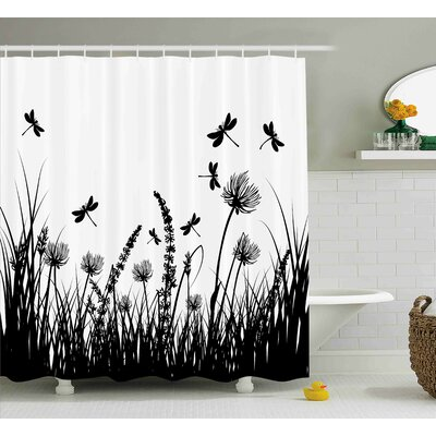 Faya Grass Bush Meadow Spring Shower Curtain Size: 69