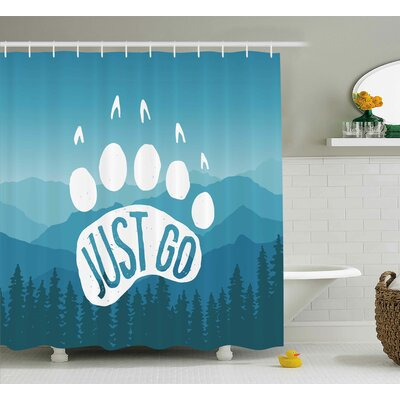 Dasia Motivational Quote Post Shower Curtain Size: 69 W x 84 L